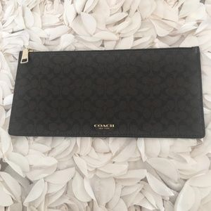 Coach envelope zipper pouch